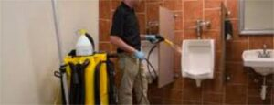 Clean Impact commercial cleaning in Springfield - electrostatic sprayer photo